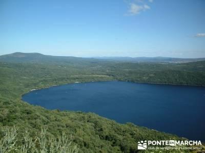 Laguna glaciar cuaternario de Sanabria; laguna grande gredos; senderismo en la palma